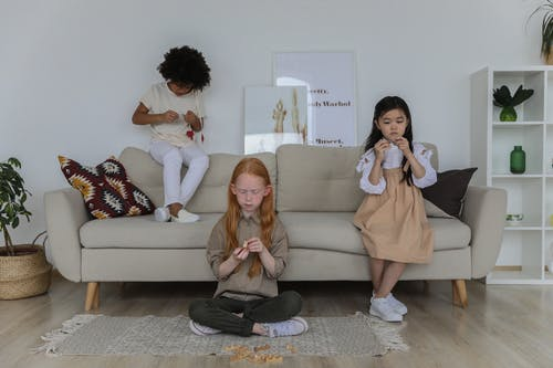 Kids in the living room